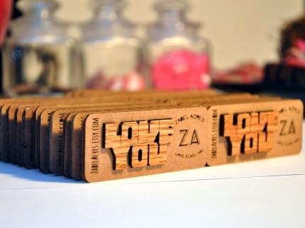 Oak plywood magnets