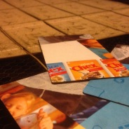 Cereal box business cards