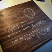 Solid Walnut Quote Sign